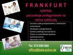 Pielęgniarka – praca w szpitalu we Frankfurcie – wszystkie oddziały.