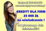 kredyt dla FIRM na OŚWIADCZENIE! 25 000 zł! Od 1 dnia działalności! BEZ ZUS/US!